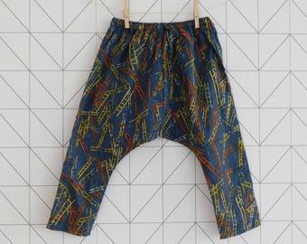 Liberty harem pants, sarouel for babies and toddlers