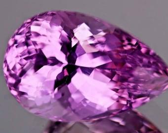 30.85ct,Pear shape Top Luster Purplish Pink color Kunzite @Afghanistan.
