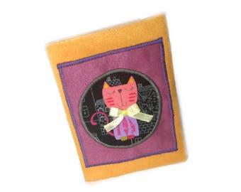 Cool cats,passport cover,vegan passport cover,kawai passport cover,passport protection,cat fabric passport cover,cute passport cover,gift