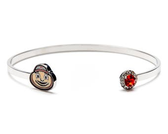 Ohio State Brutus Bangle Bracelet
