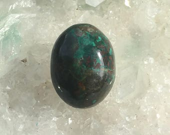 Chrysocolla Oval approx.  14mm x 10mm