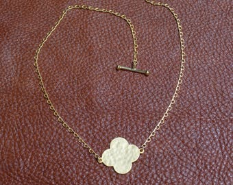 Gold Clover Shape  Necklace