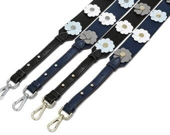 108×4.6cm Genuine Leather Bag Strap - Colorful Leather Strap Removable Strap for Bag and Purses Interchangeable Strap