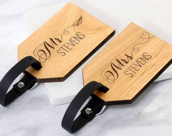 Mr and Mrs Luggage Tags, Wedding Gifts For Couple, Wedding Luggage Tags, Wedding Gifts Personalized, Personalised Honeymoon Luggage Tags