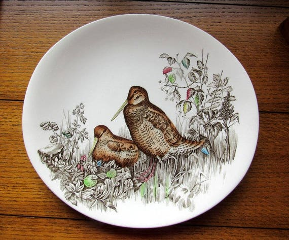 Woodcock Oval Dinner Plate Johnson Bros England