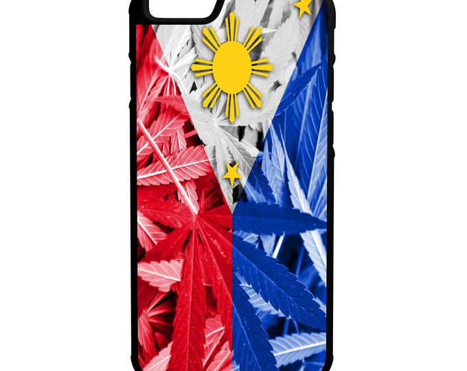 Philippines Weed Flag Hybrid Rubber Protective Phone Case