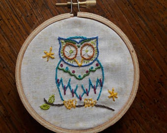 """3"""" Embroidered Owl"""