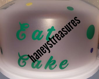 Cake carrier,  kitchen decor, pie carrier, great for any occasion,  gifts for him, gifts for her