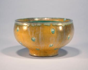 Dotted and Textured Soda Fired Bowl