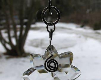ON SALE Steel Garden Art Beaded Suncatcher Crystal Sun Prism