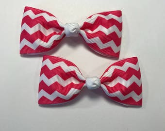 Tuxedo style pigtail hair bows