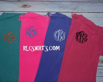 Mystery Monogrammed Comfort Colors T-Shirt. Monogrammed Shirt. Personalized Tee. Comfort Colors Shirt. Personalizes T-shirt.