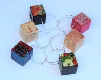 Cube Wine Glass Charms