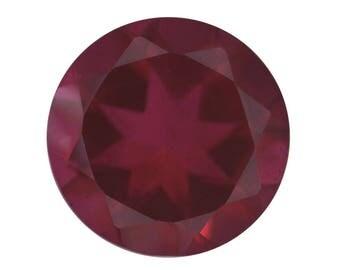 Blazing Red Quartz Triplet Loose Gemstone Round Cut 1A Quality 11mm TGW 4.10 cts.