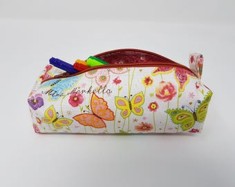 Personalised Butterfly Pencil Case / Pouch / Cosmetics case / Make-up bag / Toiletries bag
