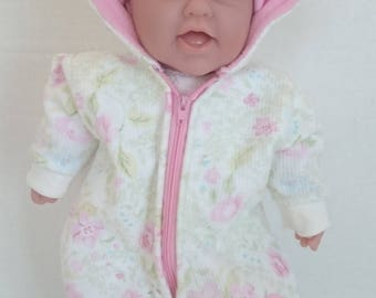 2 Piece Baby Doll Snowsuit Outfit to fit a Baby doll such Bitty Baby or any 15-16 Inch Soft Bodied Doll