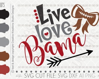 Digital Download- Cut file, Football Svg, Bama Svg, Alabama football svg, Silhouette Cut File, dxf file, ai file, Silhouette Cameo, Cricut