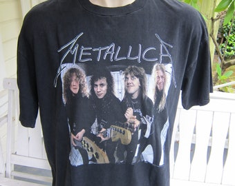 Size XL (50) ** 1990s Metallica Shirt (Old Giant Label) (Double Sided)
