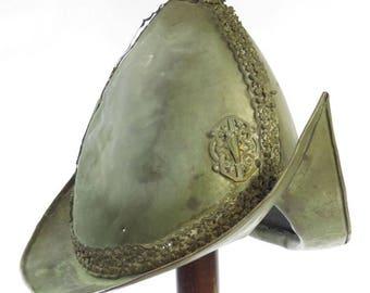 Rare antique Asian Sulawesi European Morion brass helmet circa 1780s