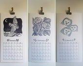 SALE 50% * 2018 Letterpress Calendar
