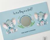 Safari Animals Scratch Off Cards - 10 Pack Gender Announcement Scratch Card   Safari Baby Shower, Safari Party Gender Reveal Scratch Cards