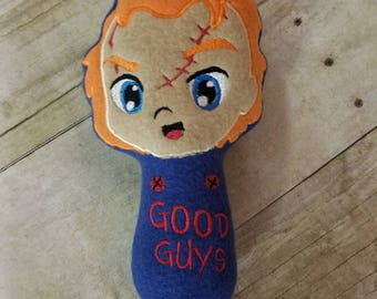 Chucky Childs Play, baby rattle soft safe horror scary creepy
