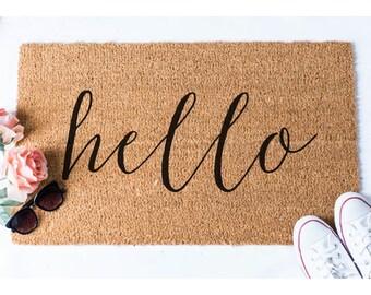 Hello Doormat - Funny Doormat - Welcome Mat - Funny Rug - Reminder Rug - Sassy Doormat - Sassy Doormat - Unique Doormat - Hello