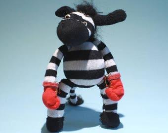 Badass Boxing Zebra