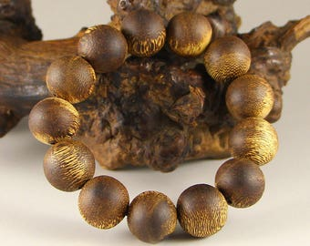 N3604 Chinese Bamboo Root Beads Bracelet