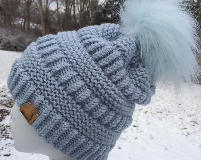 Featured listing image: Brighton Beanie  --  a loom knit pattern