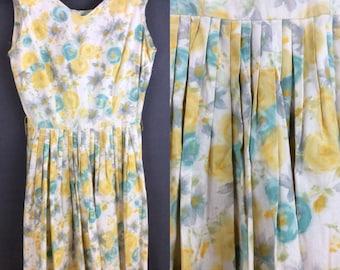 Vintage 50s Betty Barclay Dress 1950s Summer Dress Day Dress 50s Rockabilly Dress Vintage MIDI Dress XS S
