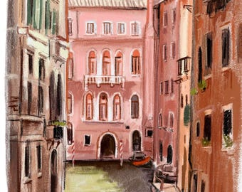 """Art print """"Venice"""" by painting by Antonia Sanker"""