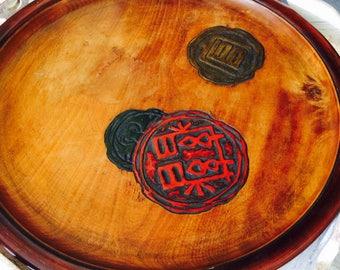 Japanese Tray, Sencha Lacquered Wood Tray, Okayama Tea Tray