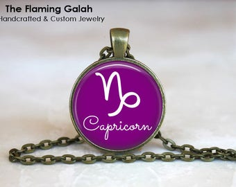 CAPRICORN Pendant • Capricorn Symbol • Capricorn Zodiac • January Birth Sign • January Star Sign • Gift Under 20 • Made in Australia (P1340)