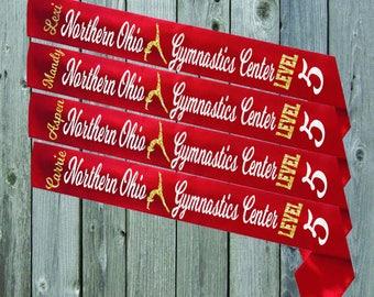 RED SASH Gymnastics Level Awards