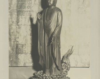 The Buddha - Vintage Photographic print of a Japanese Buddha.