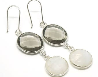 Smoky Moon earrings