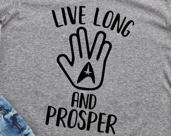Star Trek Svg Png Dxf Design Live Long and Prosper Shirt Design Vulcan Salute Svg Cutting File for Silhouette and Cricut Commercial Use Okey