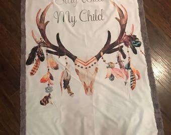 Stay Wild My Child Crib Size Throw