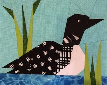 Loon quilt | Etsy : loon quilt pattern - Adamdwight.com