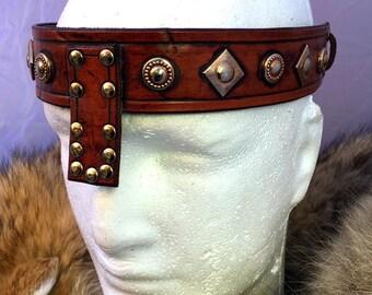 Small Conan Barbarian Leather Headband No. 1