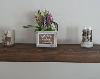ON SALE Floating Shelf | Rustic Floating Shelf | Ledge Shelf | Wooden Floating Shelf | Floating Shelves | Farmhouse Decor | Chunky Shelves |