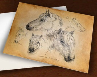 CARD to order - Camargue horse