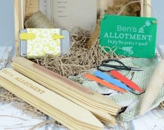 Personalised Allotment Essentials Garden Gift Set