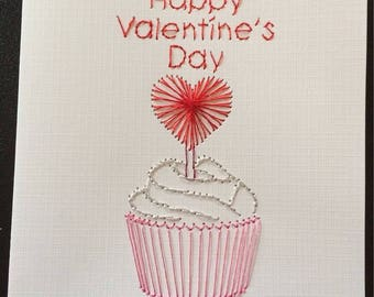 Happy Valentine's Day Cupcake Card