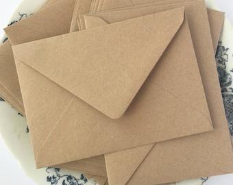 100 Kraft Envelopes 4x6 Kraft A6 Envelopes C6 Envelopes rustic wedding invitation envelopes/card making/diy craft True Size 4.1/2 x6.3/10