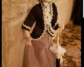 RESERVED for Rita FIVE DOLLS high quality handmade hand dressed pose-able victorian dollhouse dolls with handmade accessories 1/12