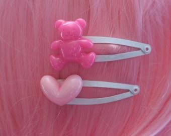 Teddy Bear Cute, Kawaii Hair Clips