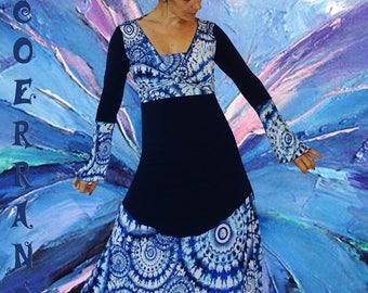 Overall asymmetric tunic, bolero and harem pants ' LOVE... BLUE.. '