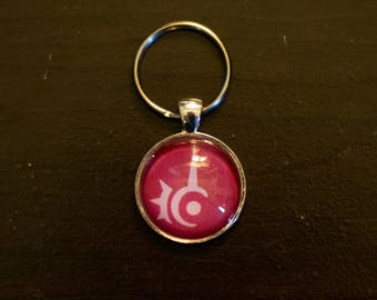 Final Fantasy XIV RED MAGE Job Inspired Keychain